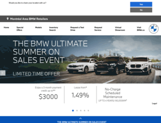 montrealretailers.bmw.ca screenshot