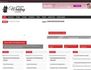 montrealweddingguide.com screenshot