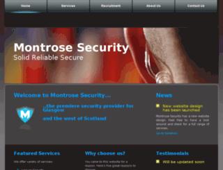montrosesecurity.co.uk screenshot