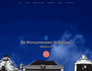 monumentenmakelaar.nl screenshot