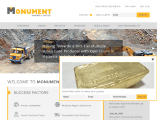 monumentmining.com screenshot