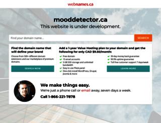 mooddetector.ca screenshot