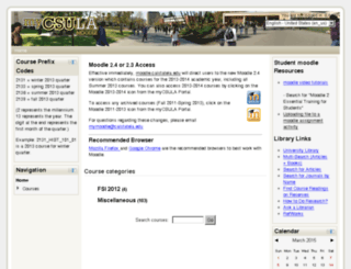 moodle-2011-2013.calstatela.edu screenshot