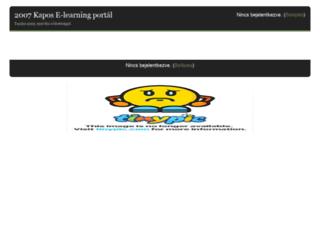 moodle.2007kapos.hu screenshot