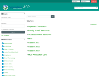 moodle.acp.edu screenshot