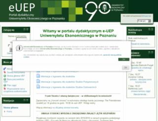 moodle.ae.poznan.pl screenshot