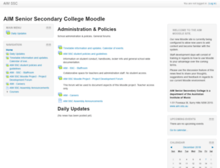 moodle.aim.edu.au screenshot
