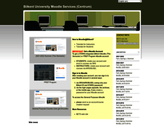 moodle.bilkent.edu.tr screenshot