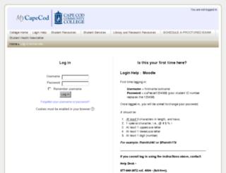 moodle.capecod.edu screenshot