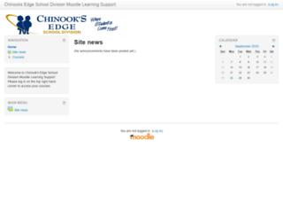 moodle.chinooksedge.ab.ca screenshot