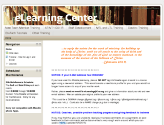moodle.cru.org screenshot