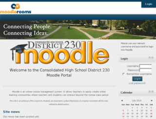 moodle.d230.org screenshot