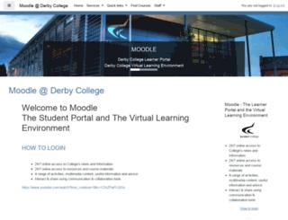 moodle.derby-college.ac.uk screenshot