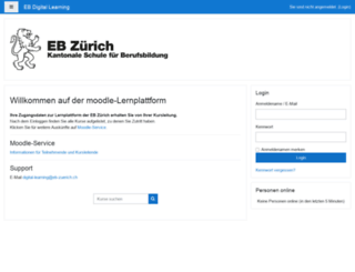moodle.eb-zuerich.ch screenshot