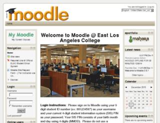 moodle.elac.edu screenshot