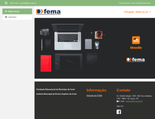 moodle.fema.edu.br screenshot