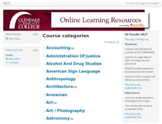 moodle.glendale.edu screenshot