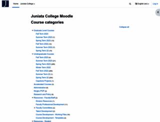 moodle.juniata.edu screenshot