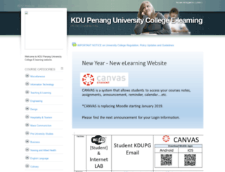 moodle.kdupg.edu.my screenshot