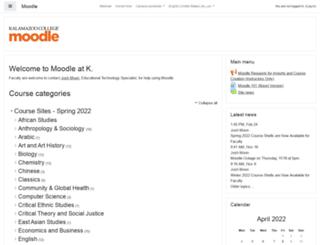 moodle.kzoo.edu screenshot