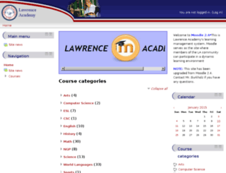 moodle.lacademy.edu screenshot