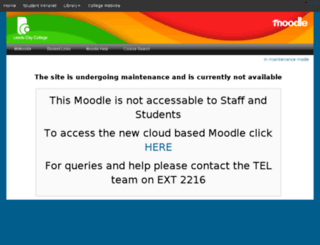 moodle.leedscitycollege.ac.uk screenshot
