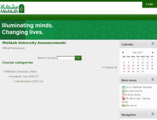 moodle.mishkahuniversity.com screenshot