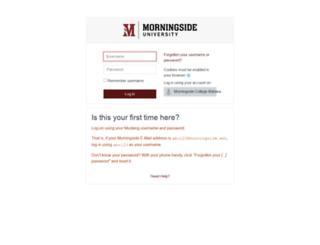 moodle.morningside.edu screenshot