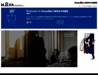 moodle.novasbe.pt screenshot