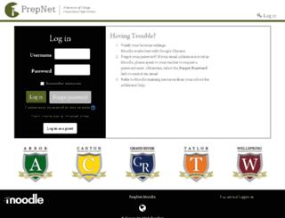 moodle.prepnetschools.com screenshot