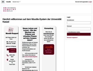 moodle.uni-kassel.de screenshot