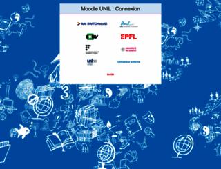 moodle.unil.ch screenshot