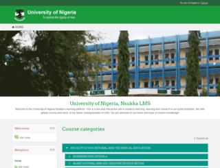 moodle.unn.edu.ng screenshot
