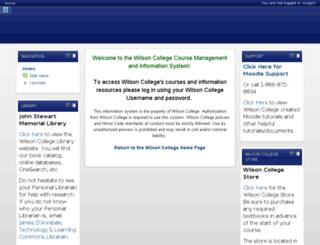 moodle.wilson.edu screenshot