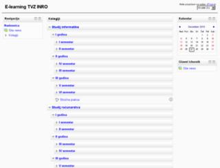 moodle1.tvz.hr screenshot