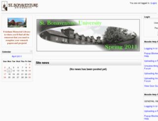 moodle11sp.sbu.edu screenshot
