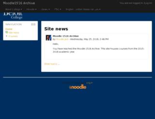 moodle1516.beloit.edu screenshot