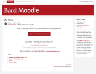 moodle2.bard.edu screenshot