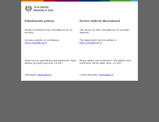moodle2.utu.fi screenshot
