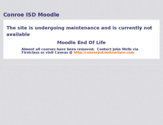 moodle4.conroeisd.net screenshot