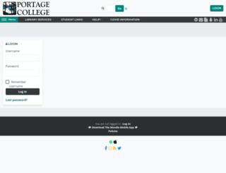 moodle4u.portagecollege.ca screenshot