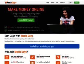 mooladays.com screenshot
