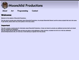 moonchildproductions.info screenshot