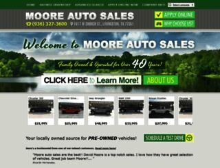 mooreautosalestx.com screenshot