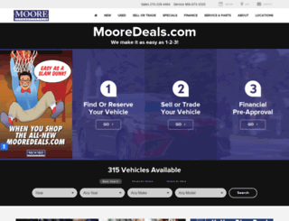 mooredeals.com screenshot