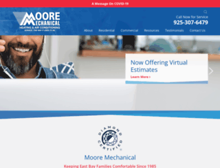 mooremechanical.com screenshot
