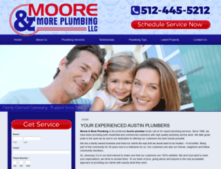 mooremoreplumbing.com screenshot