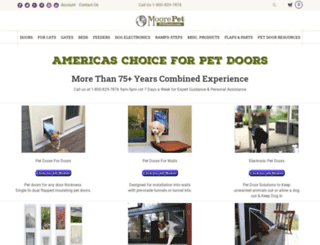 moorepet-petdoors.com screenshot