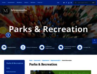 mooresvillerecreation.org screenshot