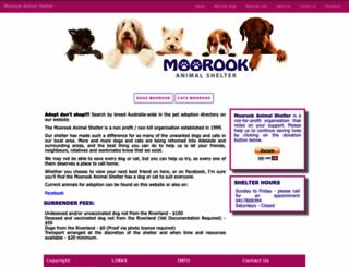 moorookanimalshelter.com.au screenshot
